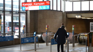 Kampens metrostation.