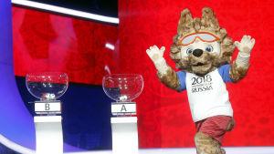Maskoten Zabivaka, VM i Ryssland 2018.
