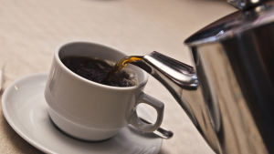 Kaffekanna och kaffekopp