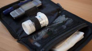 Blodsockermätare för diabetiker.