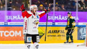 Erik Riska gjorde segermålet mot Ilves.