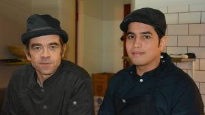 Krögare Magnus Svennblad har jobb för kocken Hassan Al-Saedi, asylsökande från Irak.