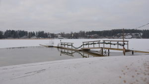 vinterbadplats vid sollidens allmänna simstrand