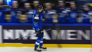 Marko Anttila gjorde Finlands andra mål i 7-0-segern över Norge.