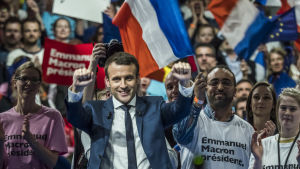 Presidentkandidat Emmanuel Macron i Frankrike