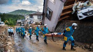 Räddningsarbete i Kumano, Hiroshima.