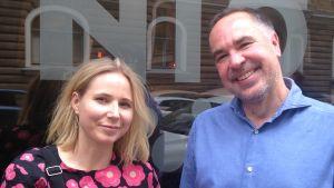 Forskaren Matilda Hellman och journalisten Jens Berg.