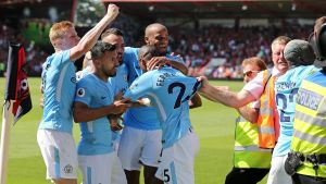 Manchester City besegrade Bournemouth.
