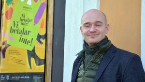 Scenografen och skådespelaren Peter Ahlqvist