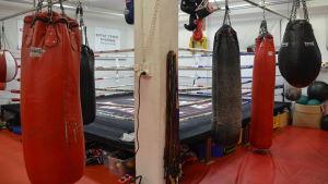 Boxningsring för thaiboxning.