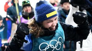 Hanna Öberg vann OS-guld i Pyeongchang.