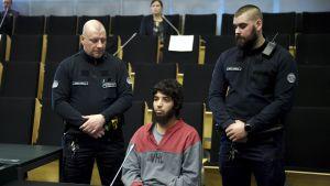 Abderrahman Bouanane i rättssalen.