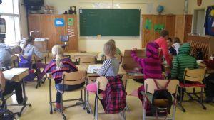 Elever i Norrby skola hösten 2014.