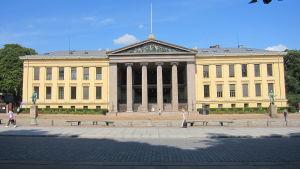 Huvudbyggnaden vid Oslo universitet.
