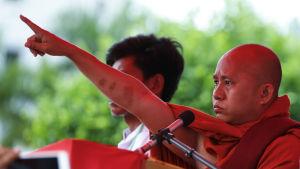 Den buddhistiska munken och muslimmotståndaren Wirathu.