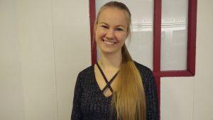 Teknolog Annika Lehto studerar energi- och miljöteknik för trejde året.