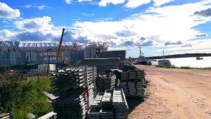 I Norra hamnen i Ekenäs byggs hyresbostäder.