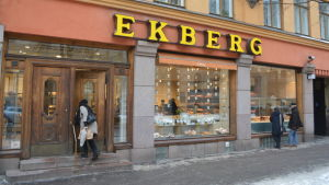 Exteriören av Café Ekberg.