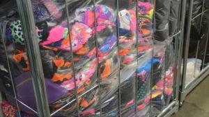 Insamlade textilier som ska återvinnas