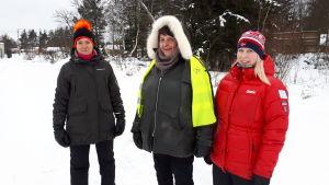 Margita Rajahalme, Kerstin Granrot och Annika Sandelin.