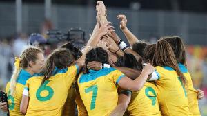 Australien vann det första OS-guldet i damernas sjumannarugby.
