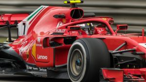Kimi Räikkönen i sin Ferrari.