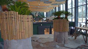 Endel av interiören i Pandahuset vid Etseri djurpark.