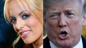 Porrstjärnan Stormy Daniels och Donald Trump.