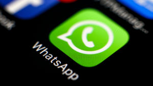 Mobilapplikationen Whatsapp.
