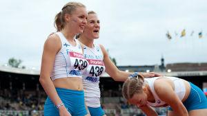 Anniina Kortetmaa, Hanna Wiss och Aino Pulkkinen, Sverigekampen 2017.