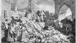 L. Sabatellin etsaus Rutto Firenzessä 1348