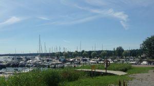 Ingå småbåtshamn i slutet av juni.