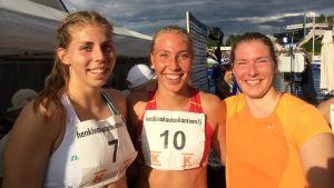 Amanda Liljendal, Jessica Rautelin och Ida Otstavel, FM 2017.