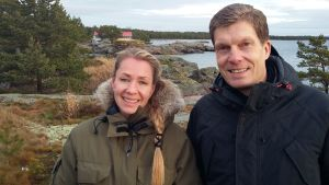 Arkitekten Joanna Maury-Ahola och ägaren Staffan Tallqvist planerar Stormhälla i Hangö