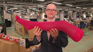 Mark Miodownik ja punainen sukka