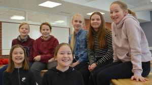 Elever i Kyrkbackens skola.