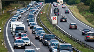 En motorväg tysk motorväg