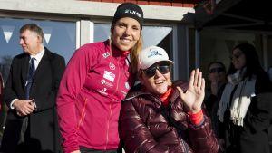 Charlotte Kalla och Anna Holmlund.