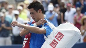 Kei Nishikori förlorar i första omgången i US Open 2015.