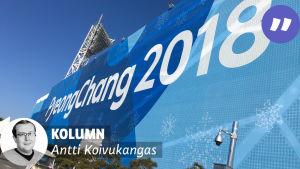 En reklamskylt för vinter-OS.