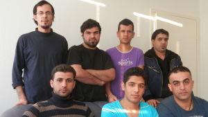 Asylsökande irakier i Jeppo i Nykarleby