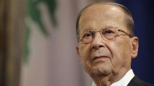 Libanons president Michel Aoun kräver en förklaring av Saudiarabien