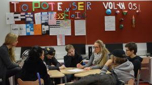 elever i Borgaregatans skola i Vasa