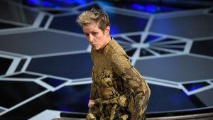 Frances McDormand skall hålla sitt tacktal på Oscarsgalan 2018.