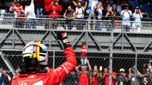 Sebastian Vettel var snabbast i tidskvalet i Mexiko.