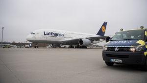 Lufthansas plan i München.