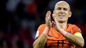 Arjen Robben slutade i landslaget 10.10.2017.