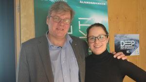 Anna Törnroos-Remes med mentorn Kenneth Kumenius.