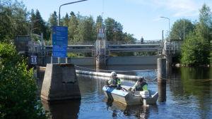 Slussen vid Gertruds i Larsmo är öppnad på nytt