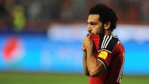 Mohamed Salah i Egyptens landslagströja.